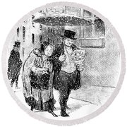 January, 1850 Round Beach Towel