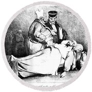 Daumier: Republican, 1834 Round Beach Towel
