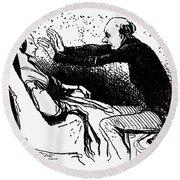 Daumier: The Hypnotist Round Beach Towel