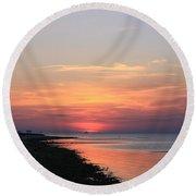 Dauphin Island Sunset Round Beach Towel