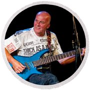 Dave Pegg Bass Player For Fairport Convention And Jethro Tull Round Beach Towel