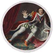 David As Richard IIi, Illustration Round Beach Towel