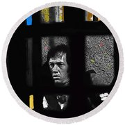 David Carradine Jail Young Billy Young Old Tucson Sound Stage Tucson Arizona 1968 Round Beach Towel