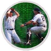 David Cone Yankees Perfect Game 1999 Zoom Round Beach Towel