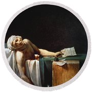 David: The Death Of Marat Round Beach Towel