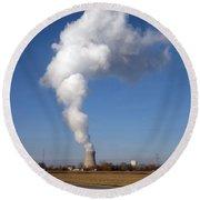 Davis Besse Nuclear Power Plant Round Beach Towel