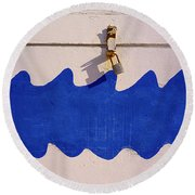 Davy Jones Locker Round Beach Towel