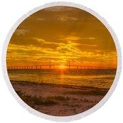 Dawn Arrives Round Beach Towel