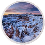 Dawn At Bryce Round Beach Towel