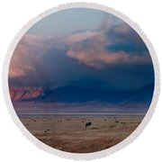 Dawn In Ngorongoro Crater Round Beach Towel