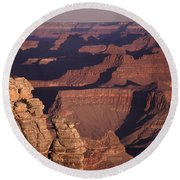 Dawn In The Grand Canyon Round Beach Towel