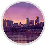 Dawn Kansas City Mo Round Beach Towel