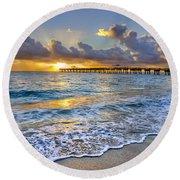 Dawn Lace Round Beach Towel