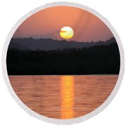 Dawn Over Darien Round Beach Towel