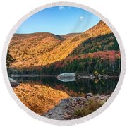 Dawn Over Kinsman Notch Round Beach Towel