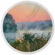 Dawn Reflection Round Beach Towel