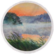 Dawn Reflection Study Round Beach Towel