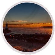 Dawn Rises Round Beach Towel by Jeff Folger