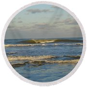 Day At The Ocean Round Beach Towel