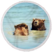 Day At The Spa Round Beach Towel