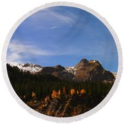 Day Dreaming In Colorado Round Beach Towel