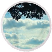 Day Dreaming With Clouds Round Beach Towel