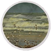 Day For The Birds Round Beach Towel