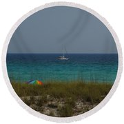 Day In Paradise Round Beach Towel