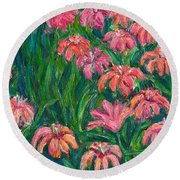 Day Lily Rush Round Beach Towel