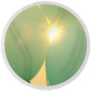 Day Of Wishes  Round Beach Towel