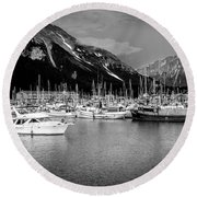 Day On The Water Round Beach Towel