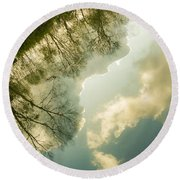 Daydreaming On The Canal Round Beach Towel