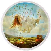 Daydreams Round Beach Towel by Aimee Stewart