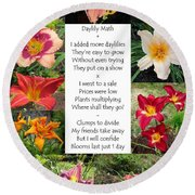 Daylily Math Round Beach Towel