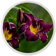 Daylily Picture 526 Round Beach Towel
