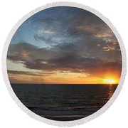 Days End Beauty Round Beach Towel