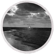 Day's End Round Beach Towel
