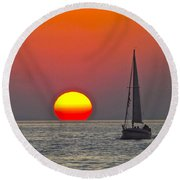 Days End Round Beach Towel