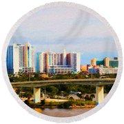 Daytona Bridge Round Beach Towel
