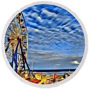 Daytona Ferris Wheel Round Beach Towel