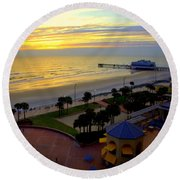 Daytona's Dawn Round Beach Towel