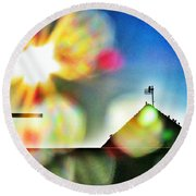 Dazzled By The Sun Round Beach Towel