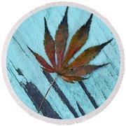 Dazzling Japanese Maple Leaf Round Beach Towel