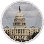 Dc Capitol Building Round Beach Towel