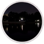 D.c. Nights Round Beach Towel