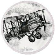 De Havilland Airco Dh.4 Round Beach Towel