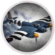 de Havilland Mosquito PR.Mk XVI Round Beach Towel