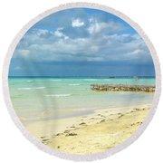 De Playa Round Beach Towel