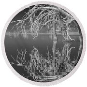Dead Arch Black And White Round Beach Towel