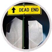Dead End Round Beach Towel